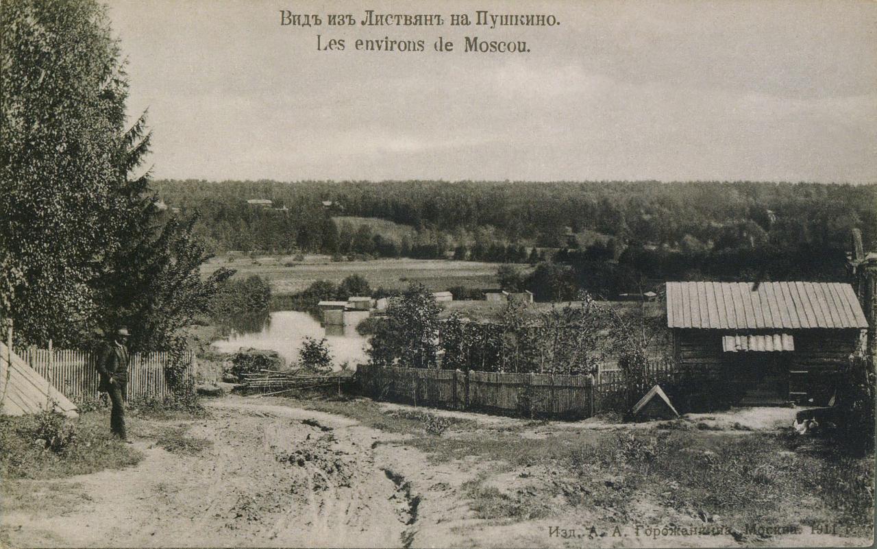 Окрестности Москвы. Листвяны. Вид из Листвян на Пушкино