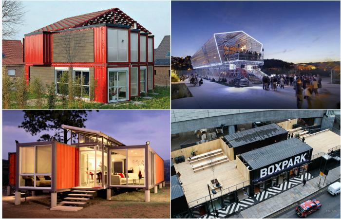 Удивительные дома и здания из морских контейнеров