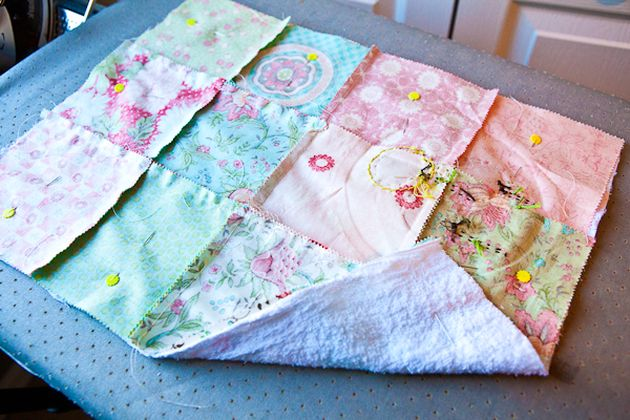 "Towels for the kitchen with flowers ""Yo-Yo"""