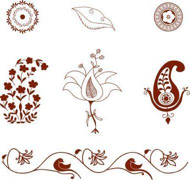 Drawing patterns mehendi. Узоры Мехенди