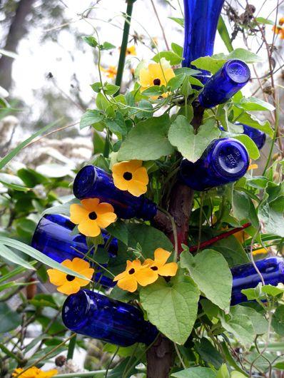Синий цвет в дизайне сада и интерьере
