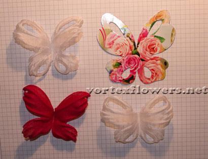 Бабочка из льняной ткани. Сборка.