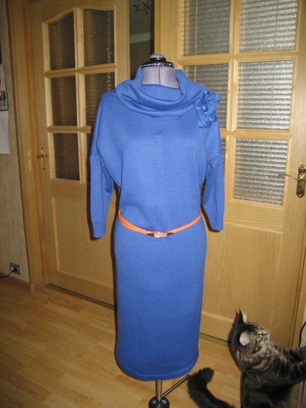 Платье васильковое