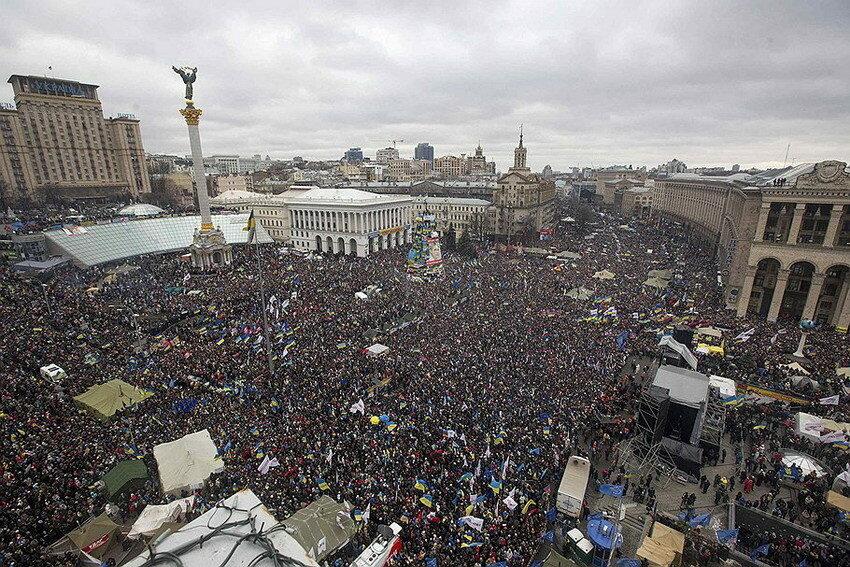 Евромайдан в Киеве.