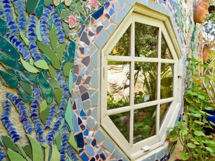 Арт декор: Идеи украшения дачного участка красивой мозаикой из стекла и других материалов
