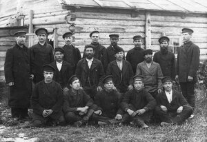 Группа рабочих Ладожского канала.