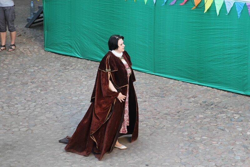 директор музея «Выборгский замок» в мантии на фестивале «Майское дерево 2014»