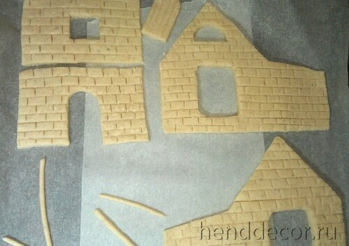 домики из теста соленого фото