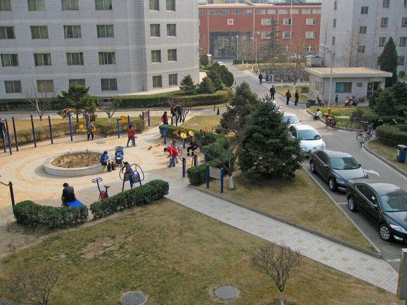 Воскресный день в нашем дворе,Пекин