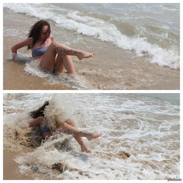 - Никит, сфоткай меня когда будет волна