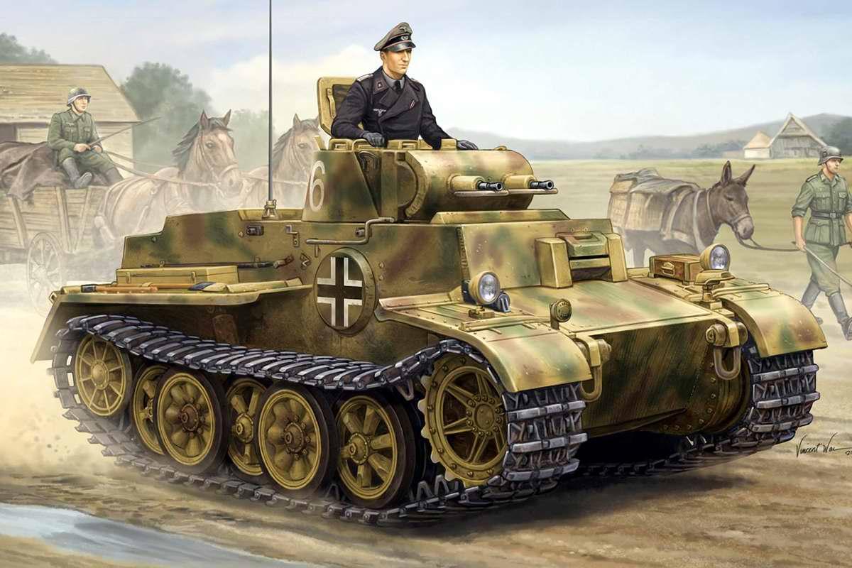 Немецкий легкий танк PzKpfw I (Vincent Wei)