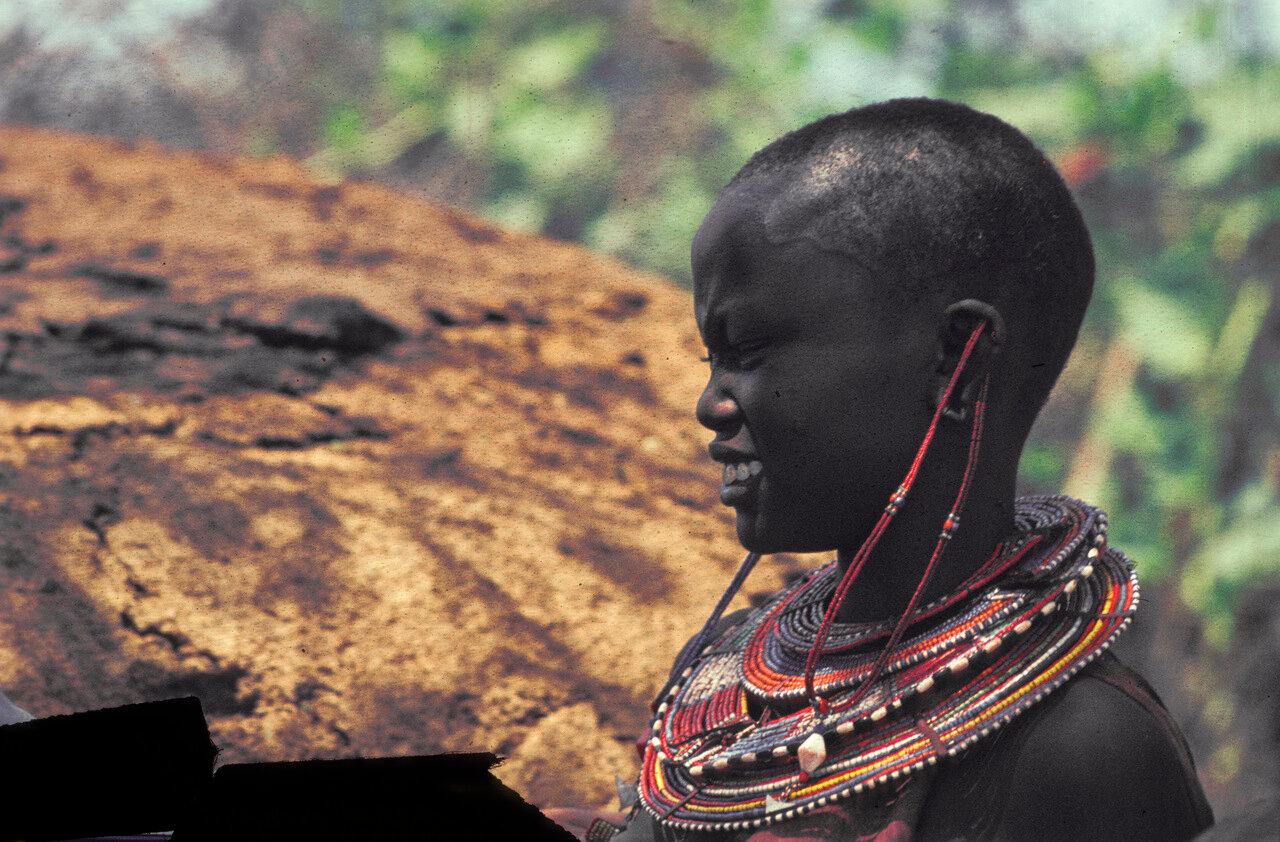 1963. Женщина масаи. Танзания