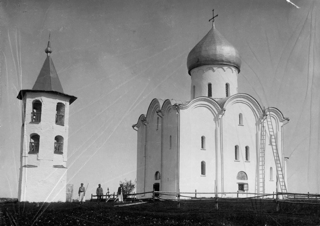 Преображенская церковь в Спас-Нередицы. 1880