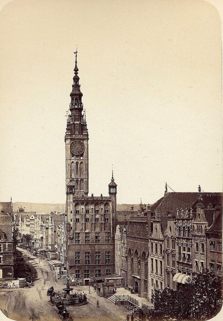 Данциг. Главная городская ратуша. 1865