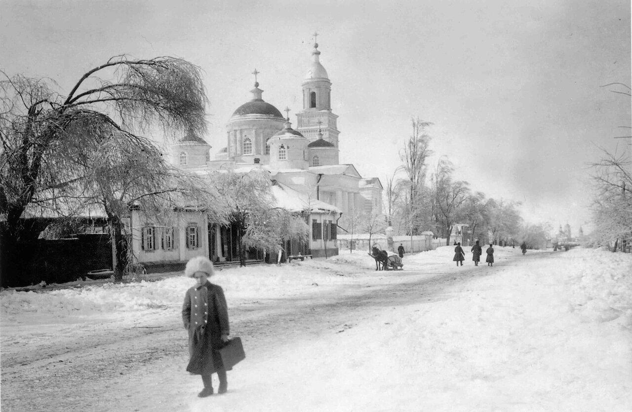 Курская улица, вид на Благовещенскую церковь