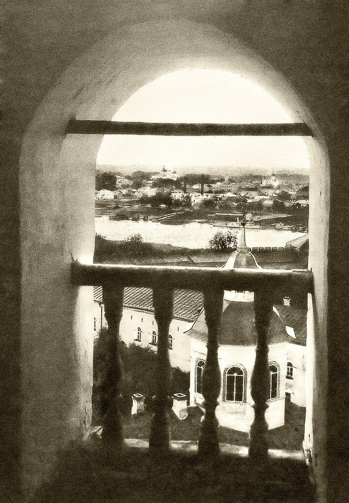 Купол церкви Архиепископа Иоанна.(вид с часозвони).1911