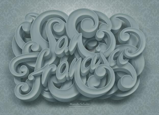Дизайнерам на заметку. Типографика - новые из лучших примеры  креативного оформления слов. 25 отличных примеров.