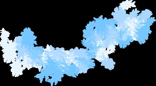 россыпи снега