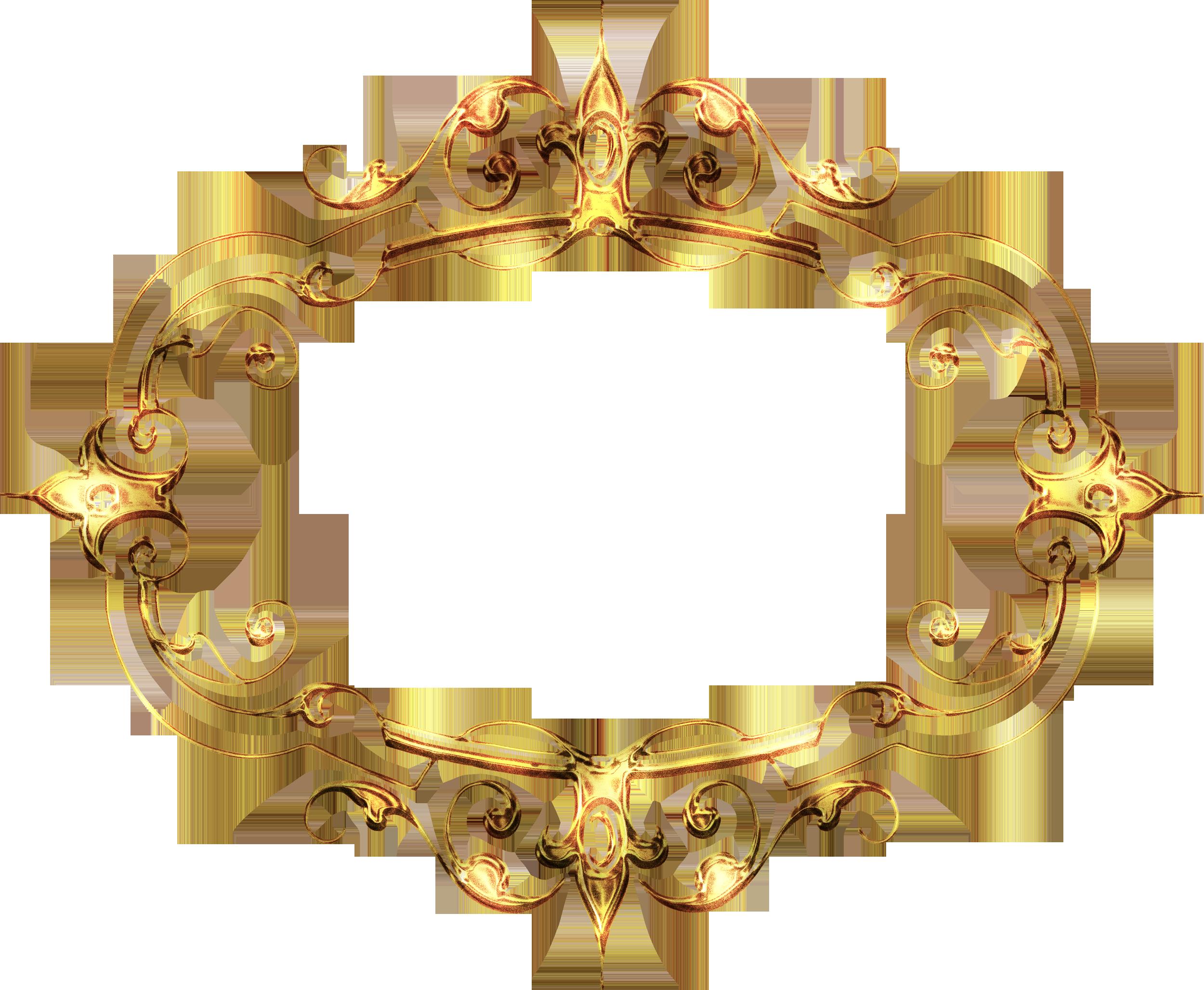 Золотые рамки - Кира-скрап - клипарт и рамки на прозрачном ...