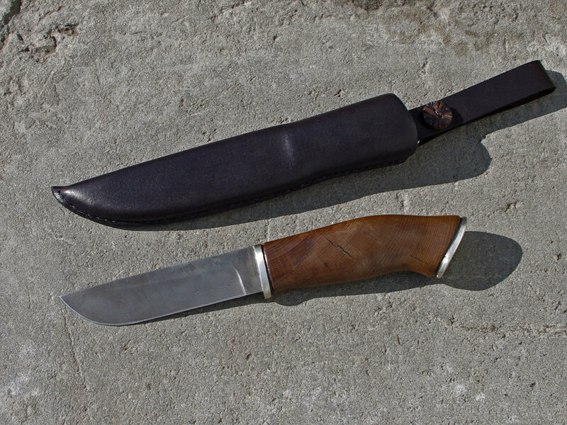 Как сделать рукоять для ножа из дуба видео