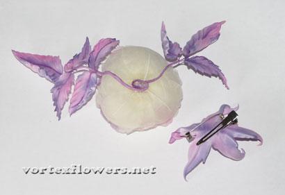 Английская роза из ткани своими руками