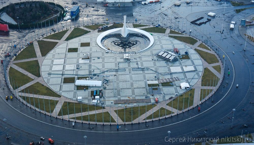 Олимпийские объекты с вертолета