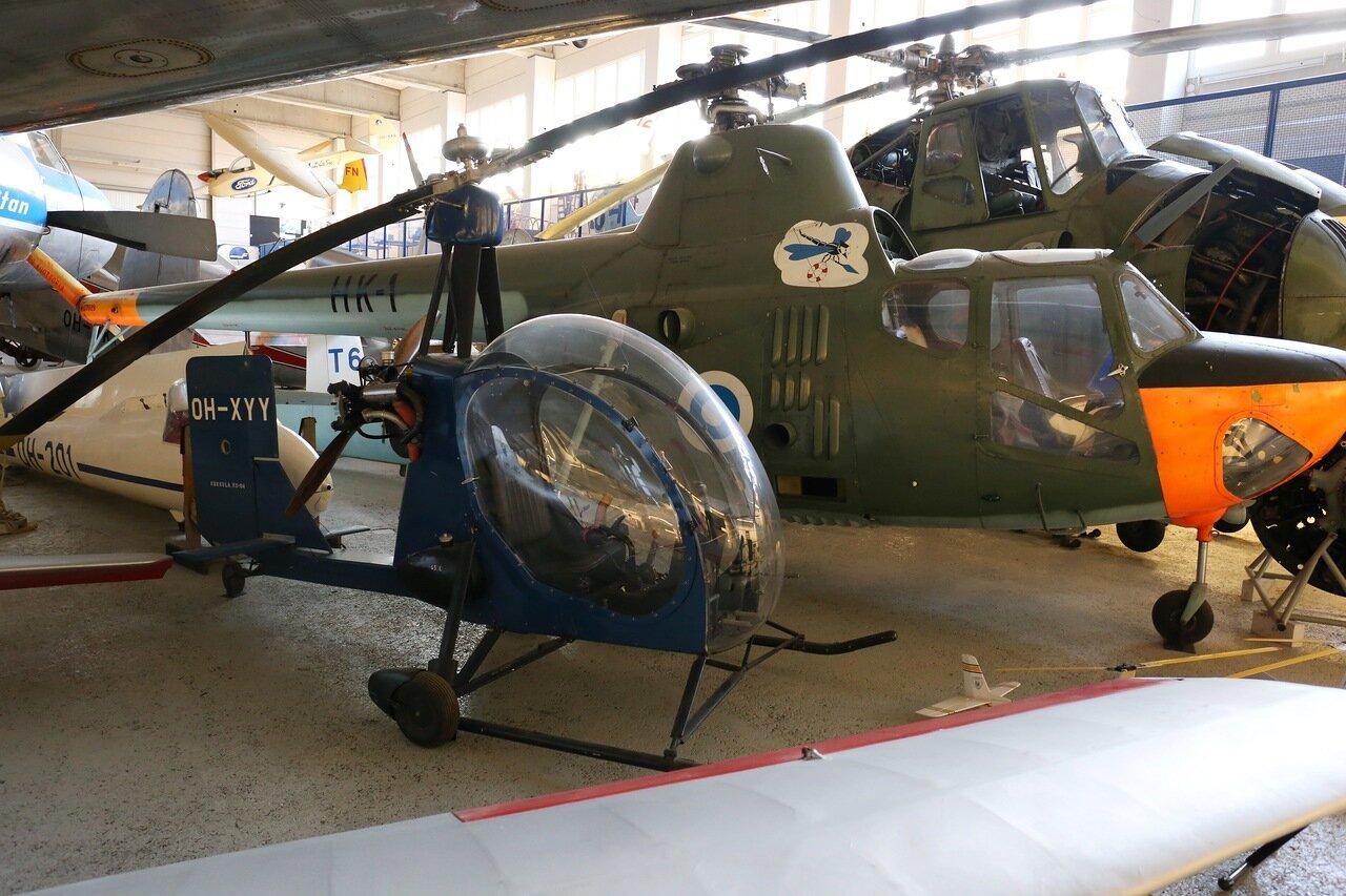 Helsinki-Vantaa Air Museum. The gyro Kokkola KO-04 Super Upstart-autugiro