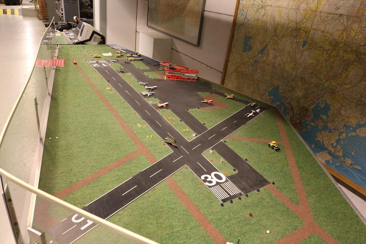 Авиамузей Хельсинки-Вантаа. макет аэропорта. Finnish Aviation Museum. The layot of Airoport