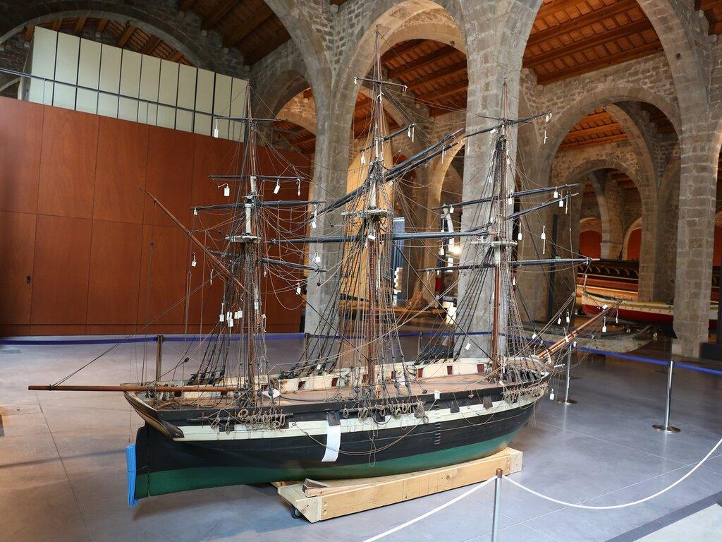 Морской музей Барселоны. Корвет 19 века