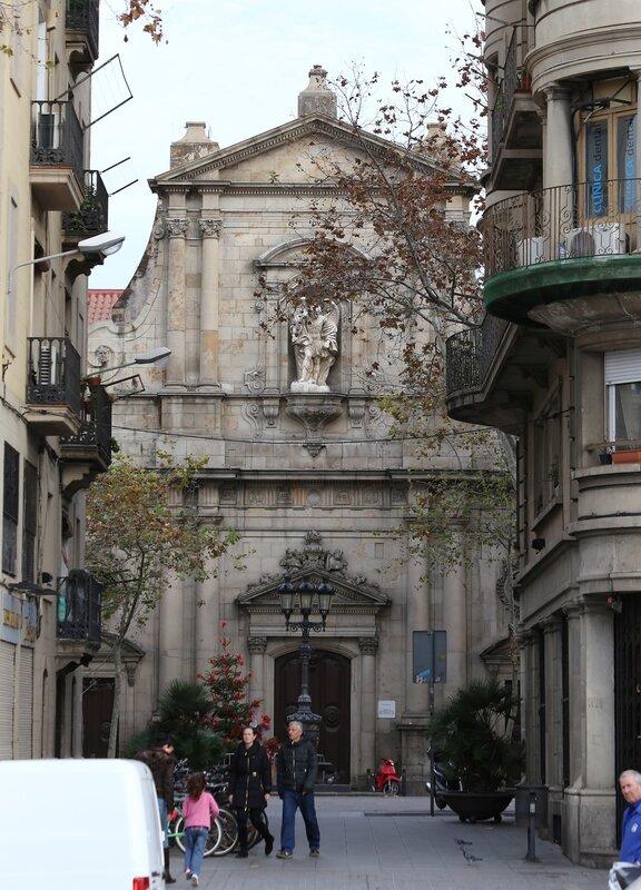 Barcelona. Barceloneta. The Church Of St. NicholasMichael at the port, Sant Miquel del Port. Barcelona, Barceloneta