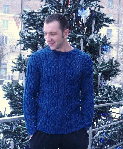 свитер мужской,вязание на заказ