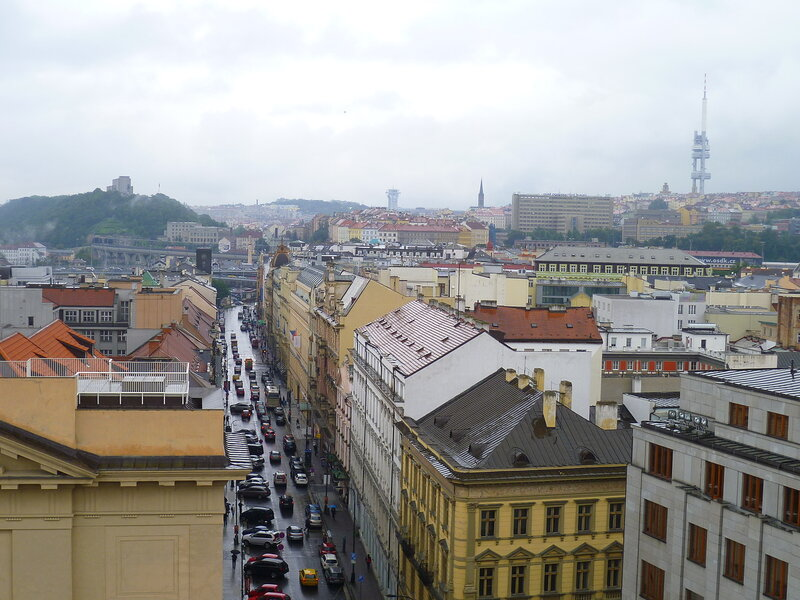 Чехия, Прага - вид с Пороховой башни (Czech Republic, Prague - view from the Powder Tower)