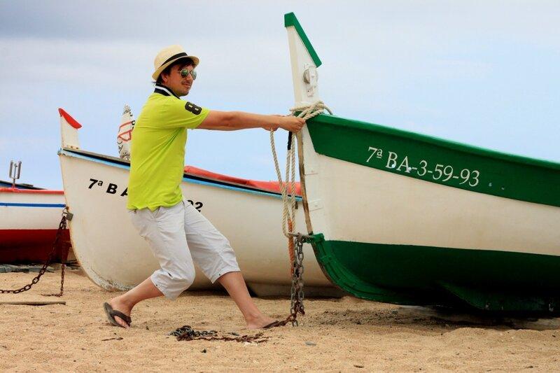 Лодки в Пинеда де Мар, Испания (Boats in Pineda de Mar, Spain)