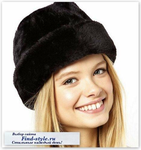 ASOS Collection, стильные меховые шапки, шапка казака, меховая папаха, зимние шапки женские меховые