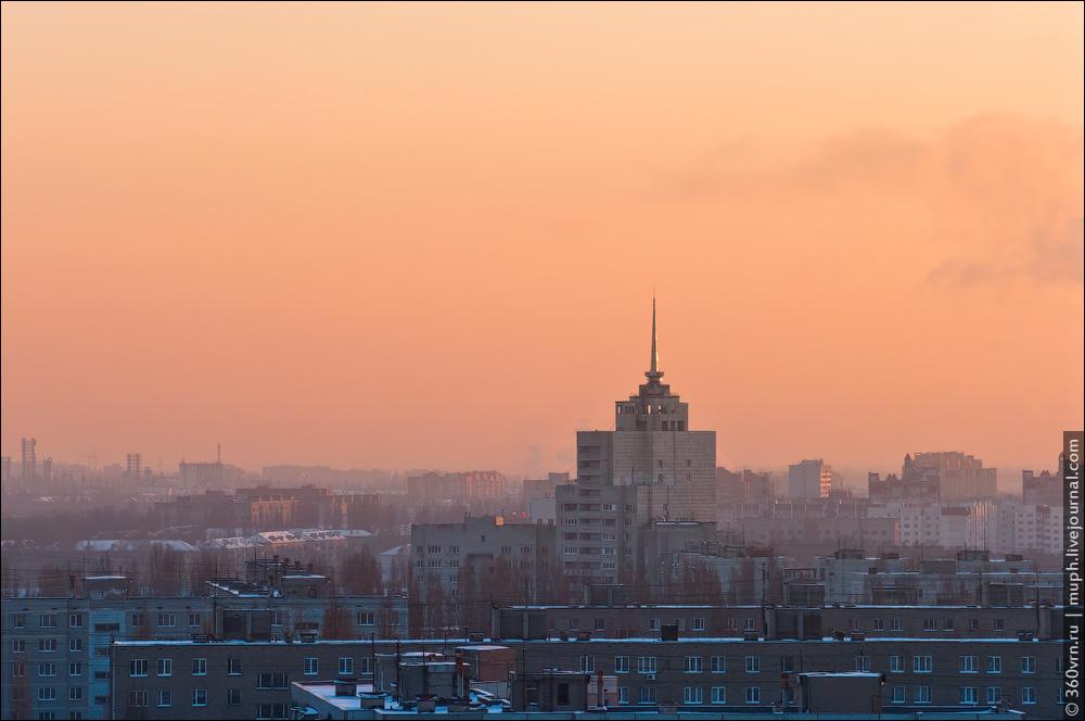 Воронеж с высоты зимой фото