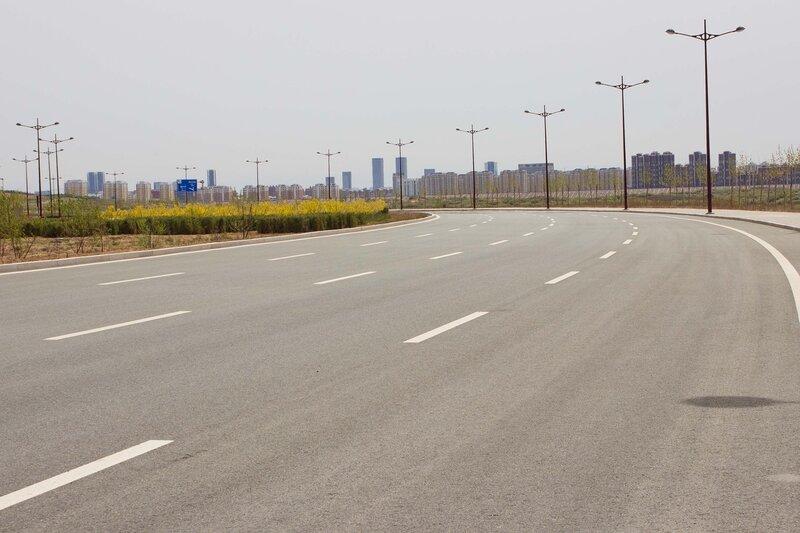 шоссе к городу Ордос, Внутрення Монголия, Китай