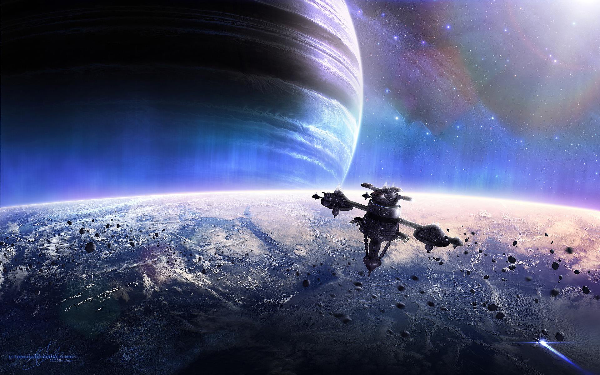 Обои космический корабль планета картинки на рабочий стол на тему Космос - скачать  № 3950423 бесплатно