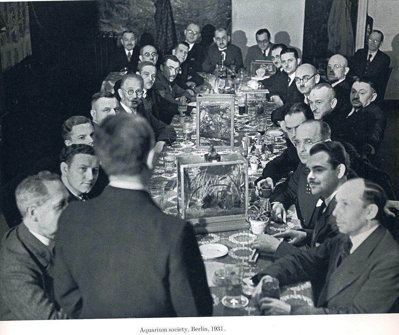 1931. Общество аквариумистов. Берлин