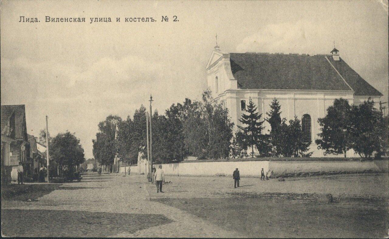 Веленская улица и костел.