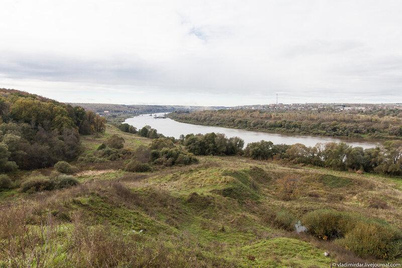 Место, где стояла Алексинская крепость