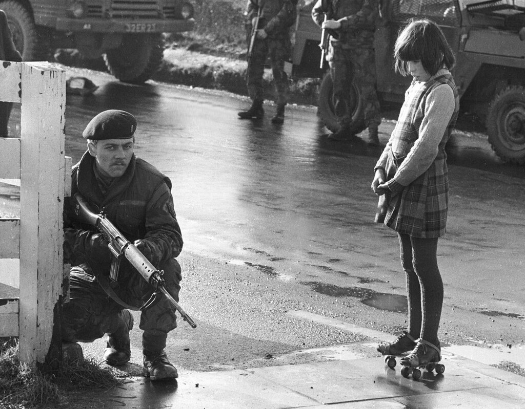 Army Patrol, Northen Ireland. c. 1971.