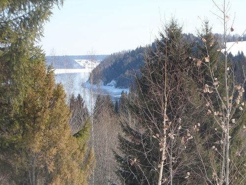 Вид на реку Каму в окрестностях музея под открытым небом