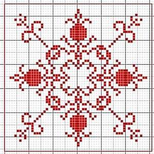 Графический рисунок для вышивки