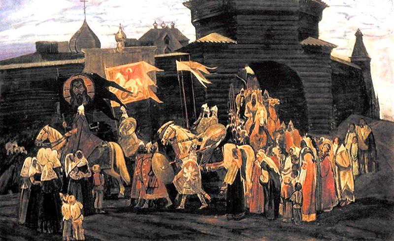 Битва с половцами на реке Сальница
