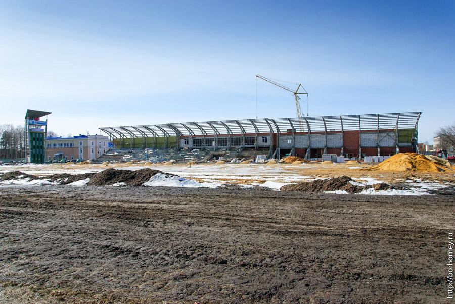 ремонт трибун стадиона Икар
