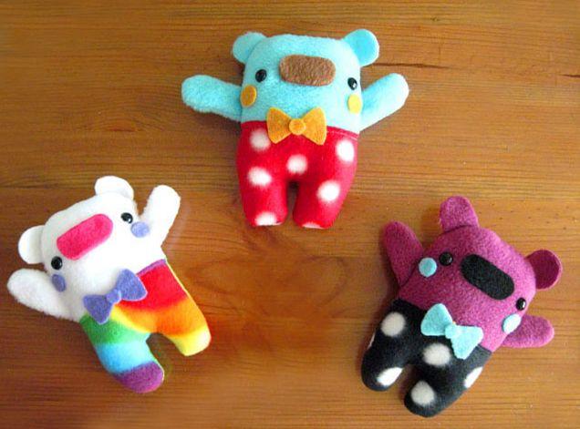 игрушки из плюша, флиса, фетра