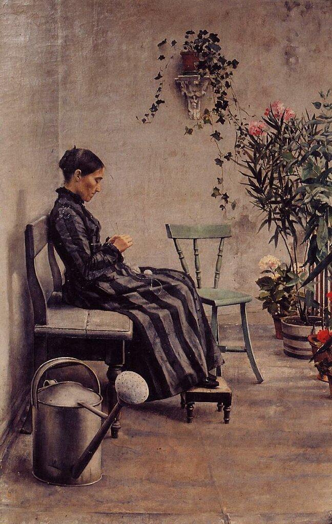 Georges Lemmen - The Knitter, 1883.jpeg