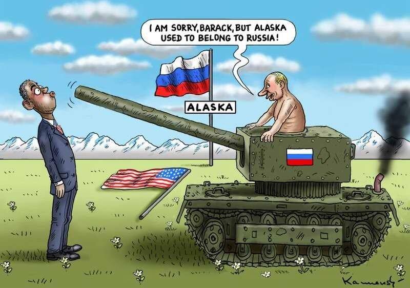 Путин без проблем захватывает Аляску (Marian Kamensky)