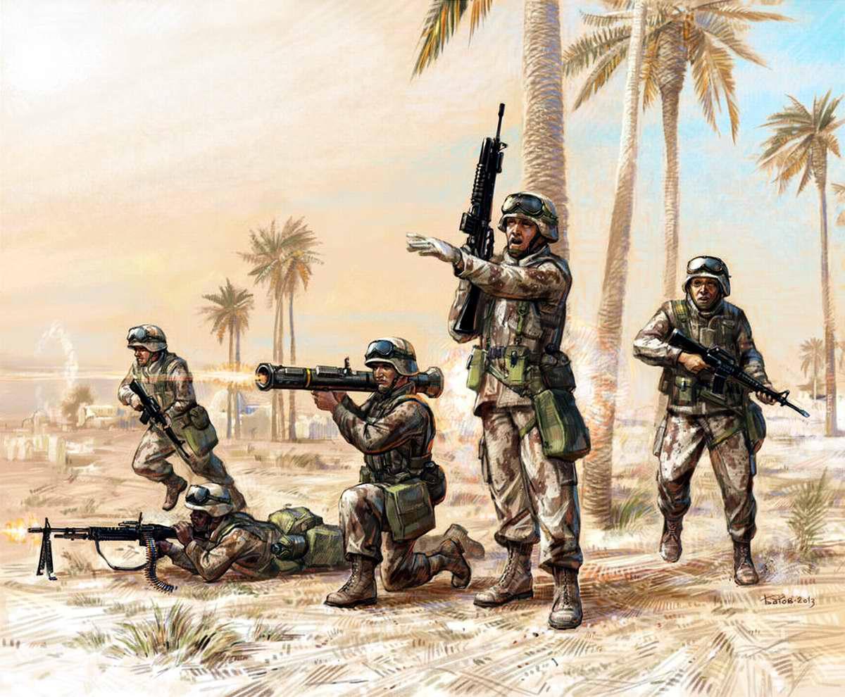 Американская мотопехота в Ираке
