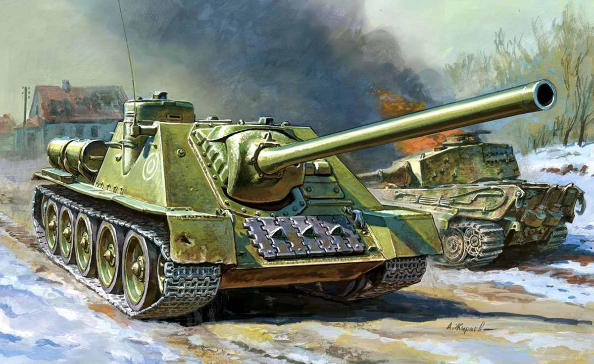 Советская самоходно-артиллерийская установка СУ-100